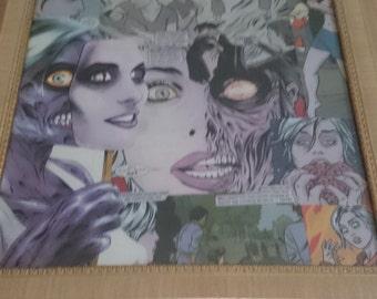 iZombie Comic Book original collage decoupage