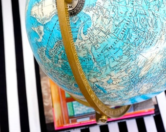 AROUND the World Vintage Globe