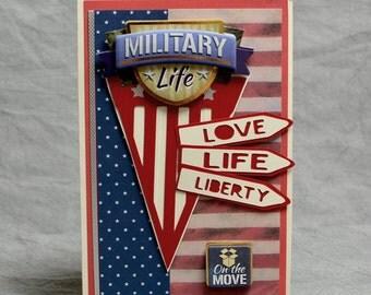 Handmade Military Patriotic Card