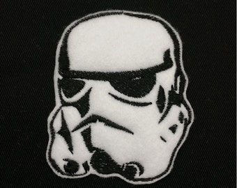 Star Wars Storm Trooper Embroidered Patch Badge Iron on or sew