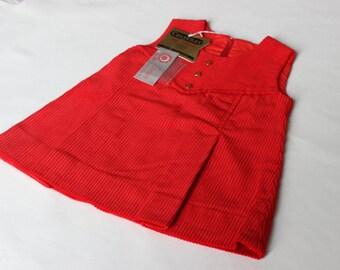 old stock new,vintage clothing, girl clothing,clothing girl dress, dress girl vintage, dress Vintage,dress70's, velvet dress red, dress