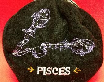 SALE>SALE>>Star sign coin purse.Pisces.  L032