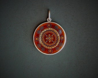 Cloisonne enamel pendant