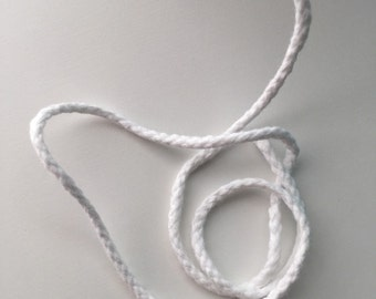 White Cotton Piping Cord 100%  Cotton Qty. 5m Size 1 Diameter approx. 4 mm
