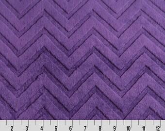 Chevron Zig Zag MInky Fabric in Ametheyst