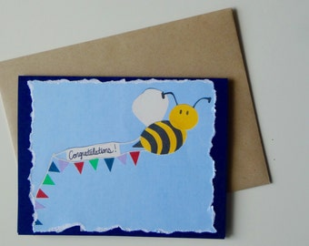 Bee Congratulations Greeting Card