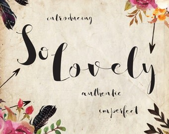 So Lovely - Handmade Script, Authentic Calligraphy Handwriting Font, Commercial / Personal download