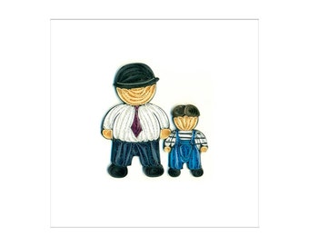 Quilled Dad and Son Fathers Day Card