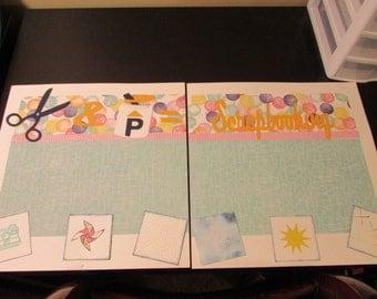 Scrapbook premade 2 page scrapbook layout
