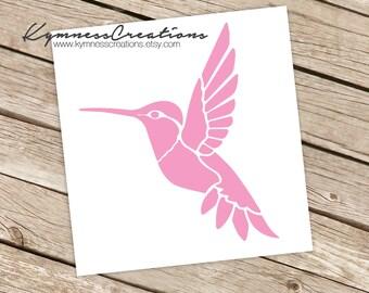 Hummingbird Vinyl Decal Sticker