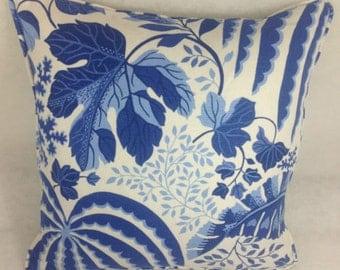 "Sanderson Rainforest Indigo and Green Orange  16""x16""  Cushion Covers/pillow throws"