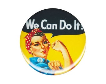 "Rosie the Riveter ""We Can Do It!"" pinback button"