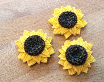 Bright and Sunny Sunflower Blossom Kitchen Fridge Magnet