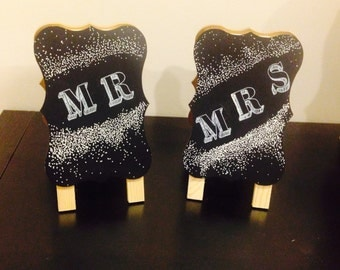 Mr. & Mrs. Table Signs