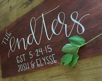 Family Name / Wooden Sign / Home Decor