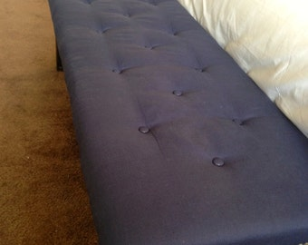 Upholstered tufted ottoman bed bench
