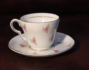 Vintage Stanley of England Fine Bone China Cup and Saucer - dainty roses