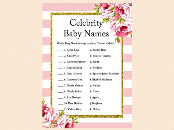 Celebrity Baby Names | First Names of Celebrities
