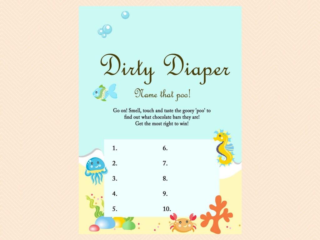 dirty diaper game name that poo chocolate bar game beach