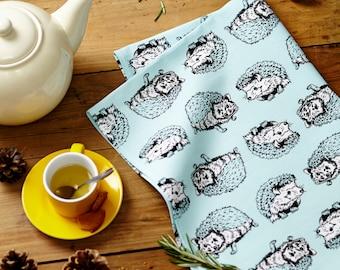 Curious Otter and Shy Hedgehog Tea Towel Set - Kitchen linens