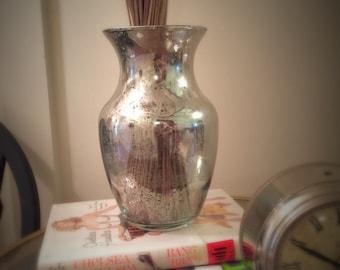 Mercury Glass Vase. Anthropologie. Vase. Vintage looking vase. Home Decor. Mercury Glass.