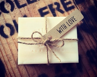 Rustic Wedding favour soap pack of 25
