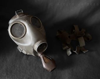 Polish C2 gas mask WW2 WWII / mask respirator gas Polish 2nd World War