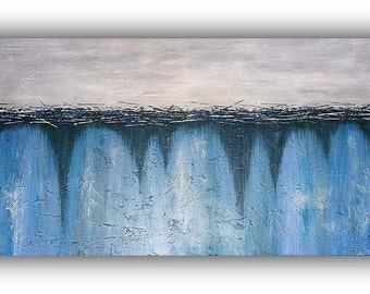 12x24 - Original Abstract Painting - Acrylic on Canvas