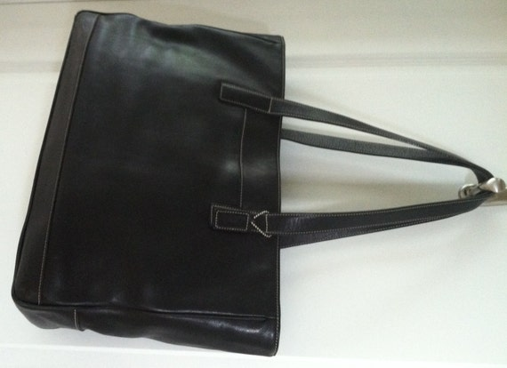 Vintage COACH 7790 Extra Large Black Tote Book Bag Briefcase