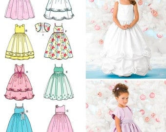 Simplicity Pattern 3943 . Child Special Occasion Dresses. Size 3,4,5,6