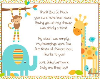Baby Animals Thank You Note
