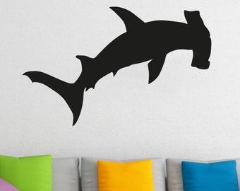 Hammerhead Shark Wall Decal Wall Stickers Large 91 cm X 58 cm