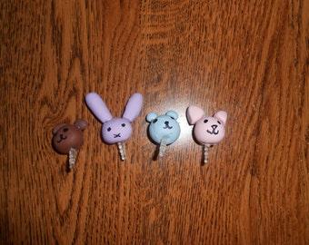 Kawaii/Cute Assorted Animal Head Phone/iPod Dust Plugs