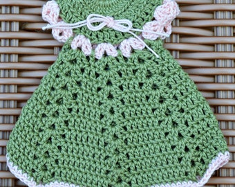 """Magnets. Doily crocheted dress. 3 1/""""x4"""""""