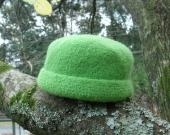Child's Green Bean Felted Hat