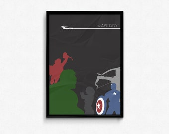The Avengers - Custom Minimal Modern Art Movie Poster Print Abstract