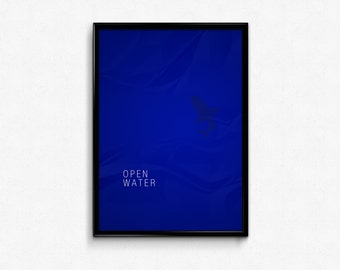 Open Water - Custom Minimal Modern Art Movie Poster Print Abstract