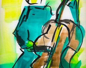jazz wall art print decor poster painting, art for living room, music wall art print decor poster