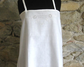Vintage French Chemise Nightgown Monogrammed MS
