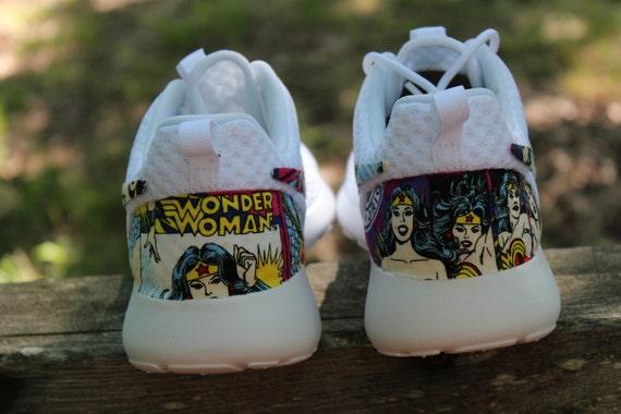 vayck Wonder Woman Nike Custom Roshe by GrabbKicks on Etsy