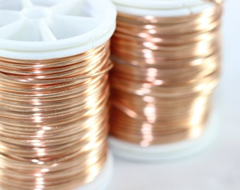 Artistic Copper Wire 18,20,22 or 28 Gauge, Craft Wire, Dead soft wire,Non Tarnish Copper Wire, 16/28/60/155 Feet Artisan Wires