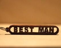 Custom Wood Keychain, Name Keychain, Personalized Wood Keychain, Handmaid Wood Keychain, Handmade Keychain