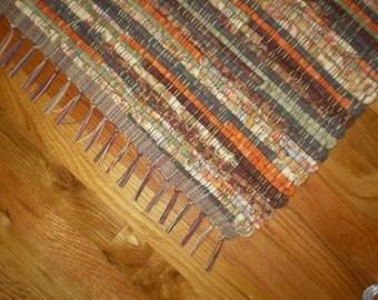 Fall Colors Handwoven Rag Rug