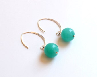 Jade and Turquoise earrings 925 Silver