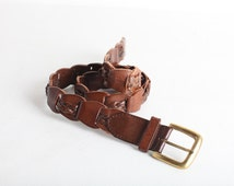 Size Small Women's Brown Leather Link Belt