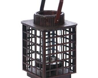 Bamboo Candle Lantern - Asian Decor
