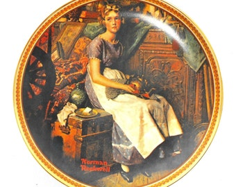 Knowles Fine China Collector Plate - Dreaming In The Attic by Norman Rockwell