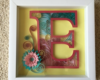 Personalized Monogram Quilled Paper Art