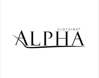 ALPHA Clothing brand - luxury logo - simple logo - custom logo design - business logo - VectorNice
