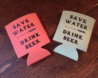 Save Water, Drink Beer Beverage Insulator